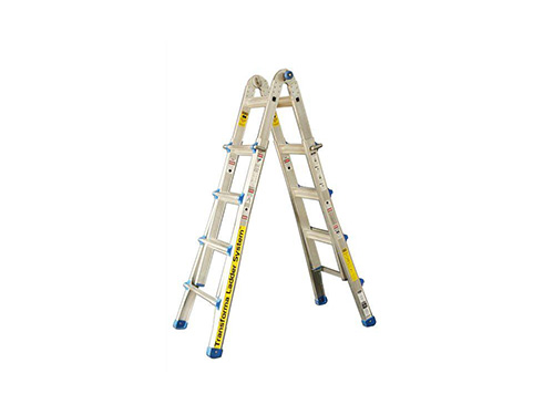 Telescopic compound ladder